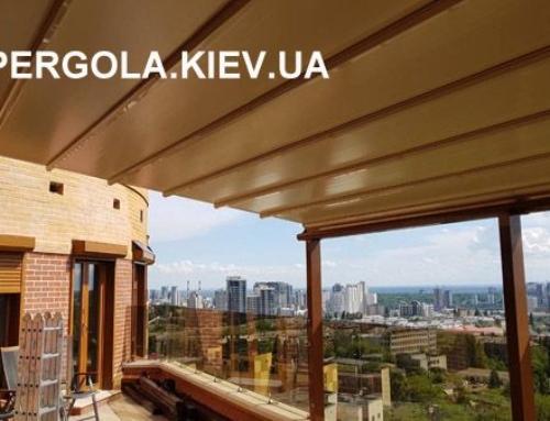 Пергола-маркиза на крыше
