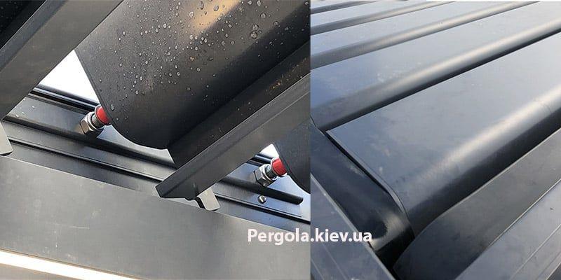 Пергола из алюминиевых ламелей